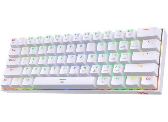 Redragon K630 RGB White Backlit 61 Keys Type-C Mechanical – Brown Switch
