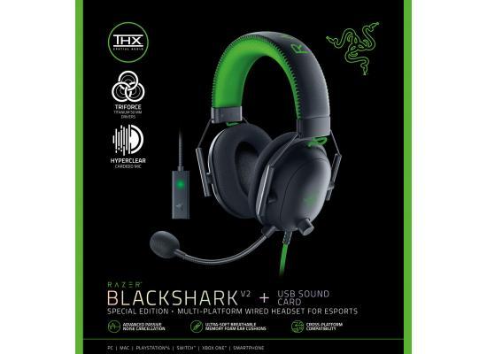 Razer BlackShark V2 SE Gaming Headset THX Spatial Audio w USB Sound Card
