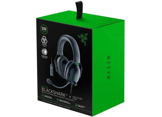 Razer BlackShark V2 Gaming Headset THX Spatial Audio w USB Sound Card