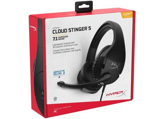 HyperX Cloud Stinger S Gaming Headset 7.1 Surround , Black