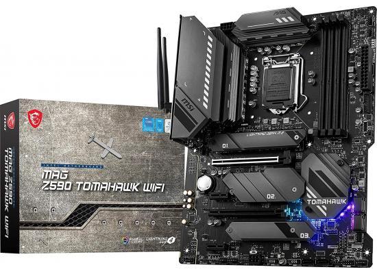 MSI MAG Z590 Tomahawk WiFi Intel Z590 M.2 slots Wi-Fi 6E Mystic Light RGB
