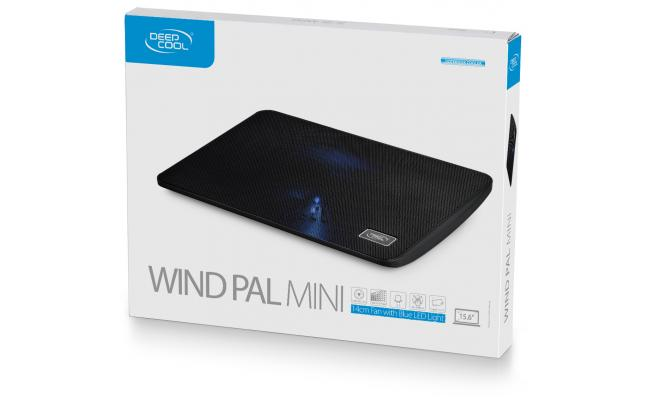 "DeepCool Wind PAL 140mm Blue LED Fan Metal Mesh up to 15.6"" Notebooks"