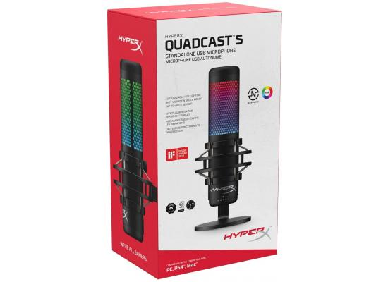 HyperX QuadCast S RGB USB Condenser Microphone for PC, PS4, PS5 and Mac