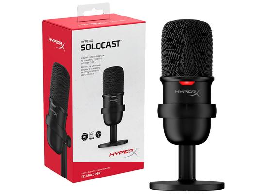 HyperX SoloCast USB Condenser Gaming Microphone, for PC, PS4, and Mac