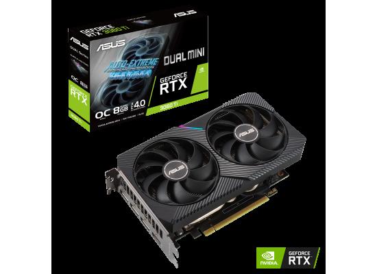 ASUS Dual GeForce RTX 3060 Ti V2 MINI OC Edition 8GB GDDR6