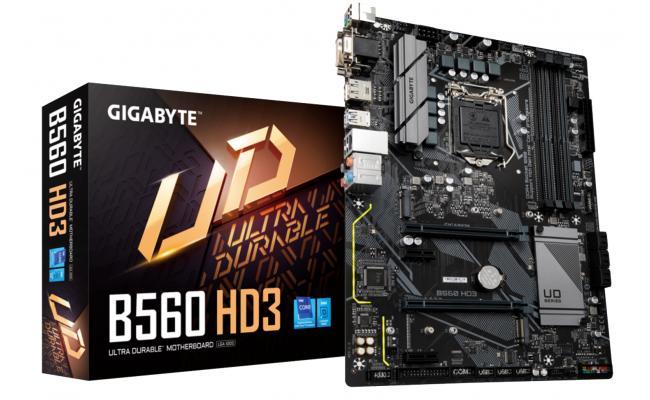 Gigabyte B560 HD3 Intel B560 Dual M.2 RGB Motherboard