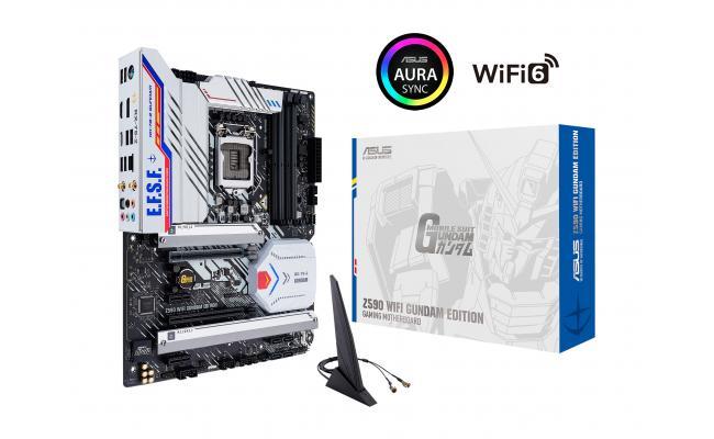 ASUS Z590 WIFI GUNDAM EDITION Intel Z590 Aura Sync RGB