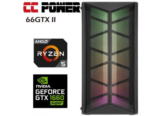 CC Power 66GTX II Gaming PC AMD Ryzen 5 w/ GTX 1660 6GB