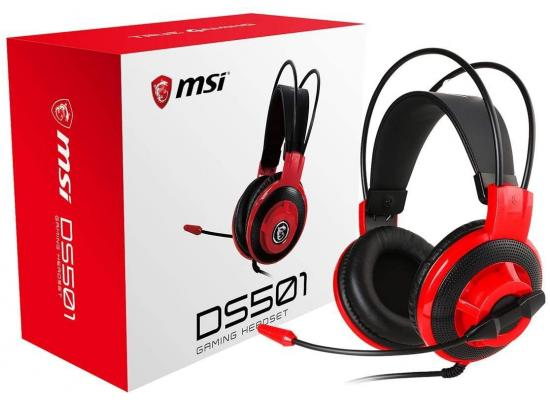 MSI DS501 Gaming Headset with Microphone 3.5mm Connector - Red & Black