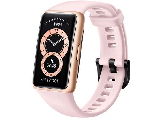 HUAWEI Band 6 Fitness Tracker Smartwatch 2 Weeks Battery Waterproof - Pink