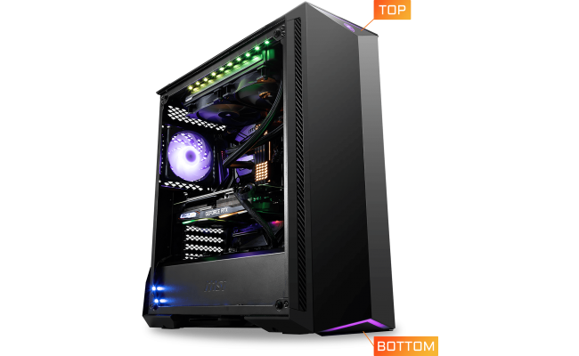 MSI MPG GUNGNIR 100 Tempered Glass Mid-Tower Gaming PC Case