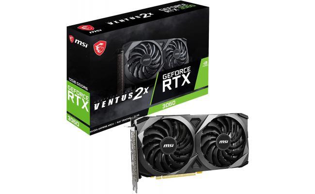 MSI GeForce RTX 3060 Ventus 2X 12GB GDDR6 192-bit Graphic Card