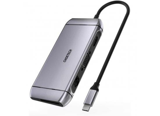 CHOETECH HUB-M15 9 in 1 USB-C 3.0 Docking Station Type C