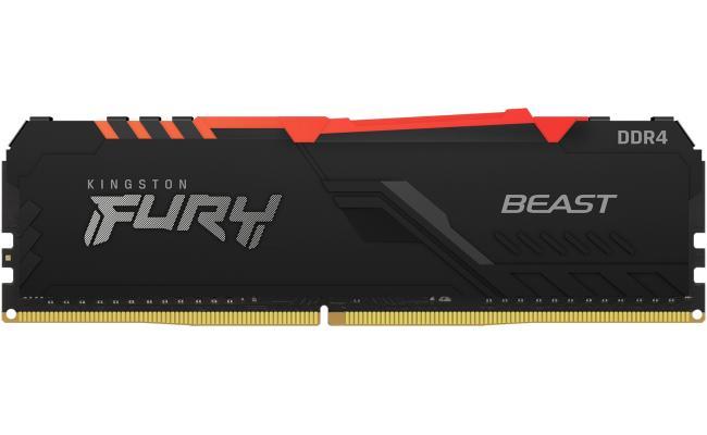 Kingston FURY Beast RGB 16GB (1 x 16GB) 3600MHz DDR4 RAM