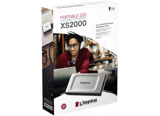 Kingston XS2000 1TB High Performance Pocket-Sized External SSD USB C