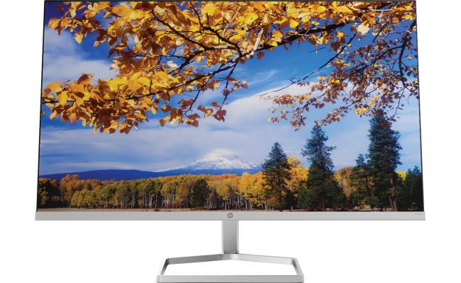 "HP M27f 27"" Ultraslim Full-HD IPS Monitor w/ Eye Safe , Silver & Black"