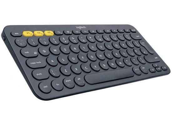 Logitech K380 Multi-Device Bluetooth Keyboard up to 3 Devices – Dark Grey