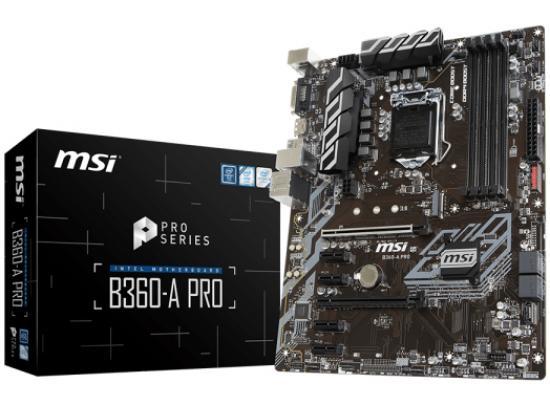 MSI B360-A PRO Intel B360/ DDR4 / M.2/ ATX Motherboard