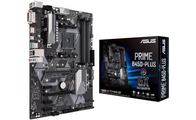 Asus PRIME B450-PLUS AMD B450  ATX Motherboard
