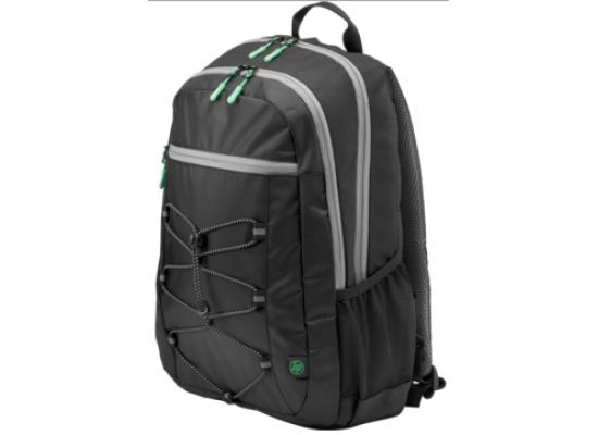 "HP 15.6"" Active Backpack (Black/Mint Green) Carry Case"