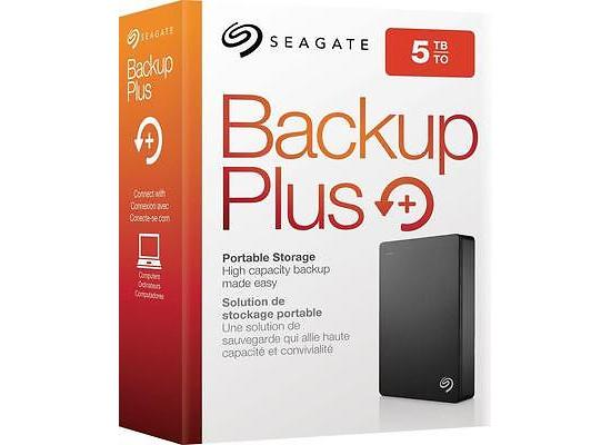 Seagate 5TB Backup Plus External Desktop USB 3.0