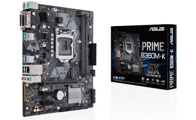 Asus PRIME B360M-K Intel B360 DDR4 Motherboard