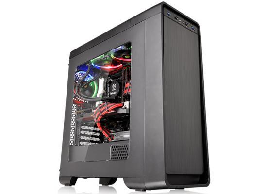 hermaltake Versa U21 Midi Tower Gaming Case - Black