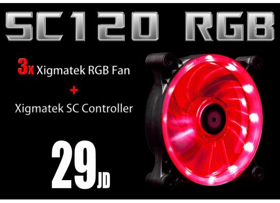 RGB Light Kit ( 3 Xigmatek RGB Fan + RGB Controller )