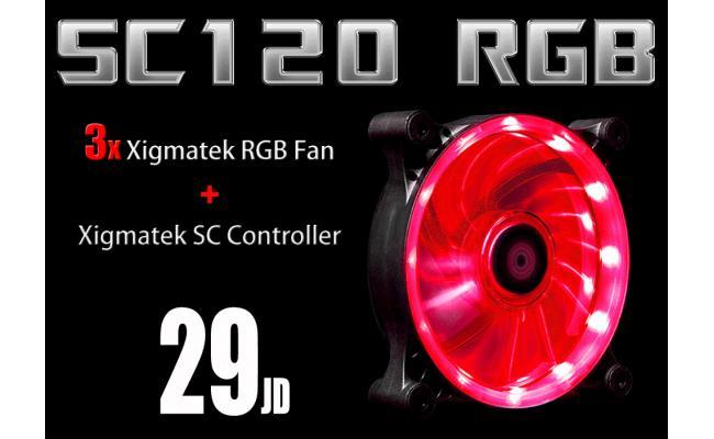 RGB Light Kit ( 3 Xigmatek RGB Fan + RGB Controller )