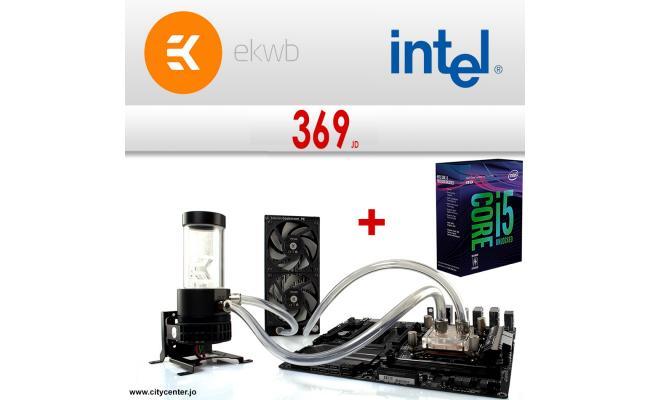 Intel Core i5-8600K  6-Core  + EK S240 Liquid Cooling