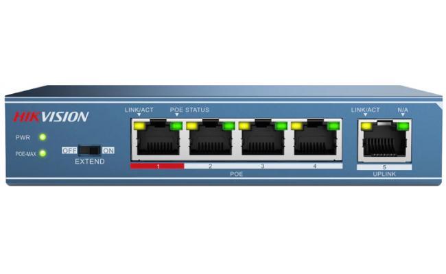 Hikvision DS-3E0105P-E 4-Ports  Unmanaged PoE