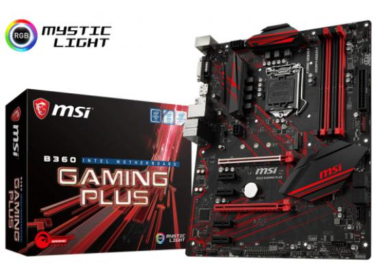 MSI B360 GAMING PLUS Intel B360 Motherboard
