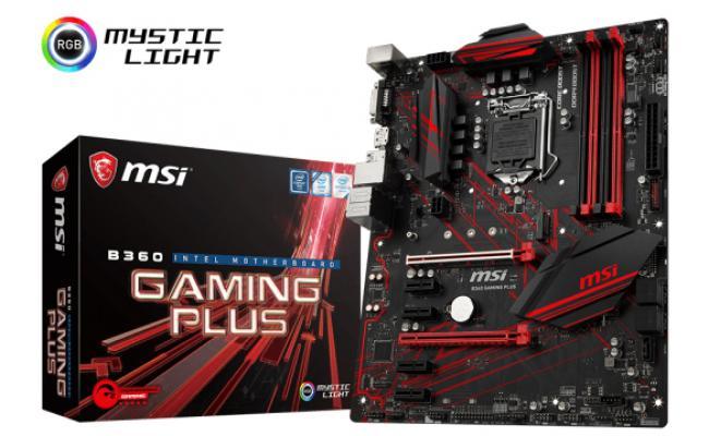 MSI B360 GAMING PLUS Intel B360 Motherboard
