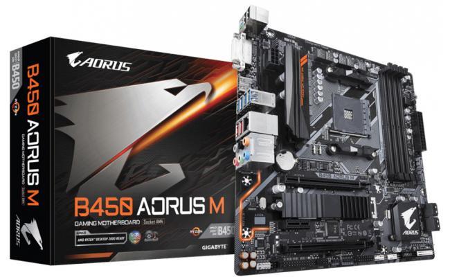 GIGABYTE B450 AORUS M AMD B450 Motherboard