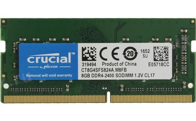Crucial DDR4-2400 SODIMM 8GB Notebook Memory