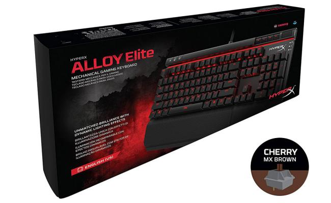 HyperX Alloy Elite Mechanical Gaming Keyboard, MX Brown