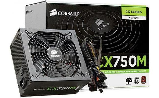 Corsair 750W CX750M Hybrid Modular 80PLUS Bronze