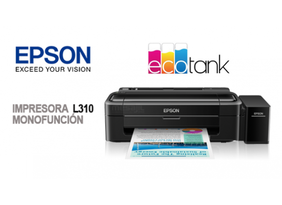 Epson L310 Single Function Colour Inkjet Tank Printer