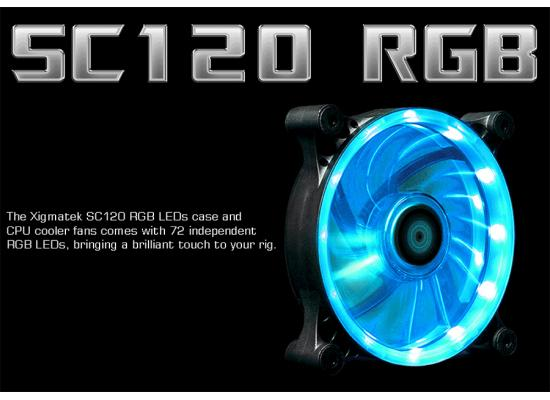 Xigmatek SC120 RGB LED 120mm (4 Pin) Fan Cooler