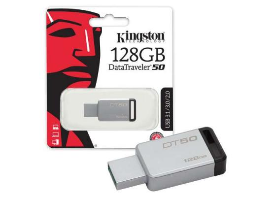 Kingston 128GB DT50 USB 3.1 Gen 1 Flash Drive (Black)