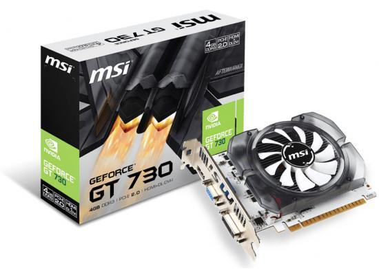 MSI NVIDIA GeForce GT 730 4GB DDR3  Video Card