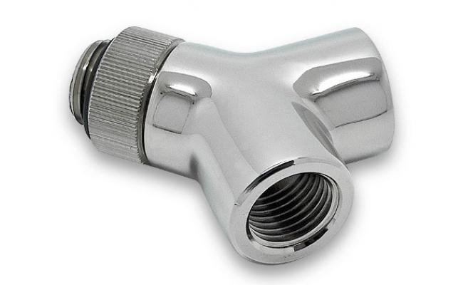 EK-AF Y-Splitter Rotary 2F-1M G1/4 - Nickel