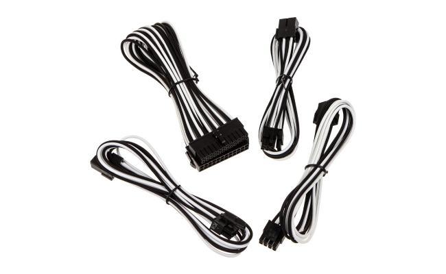 Bitfenix Alchemy 2.0 Extension Cable Kit - Black/ White