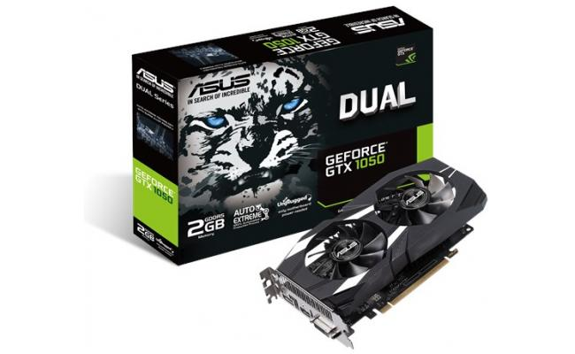 Asus NVIDIA Dual GeForce GTX 1050 V2 2GB GDDR5