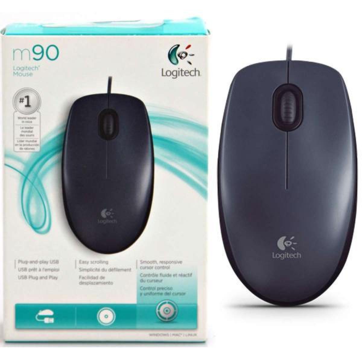 662c4393094 Logitech Wired Optical Mouse M90 Black USB 2.0   M90   City Center ...