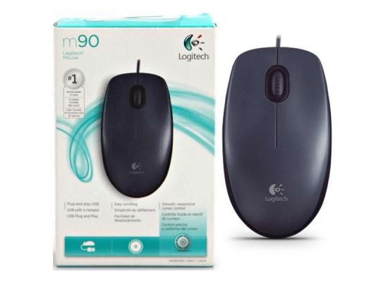 Logitech Wired Optical Mouse M90 Black USB 2.0