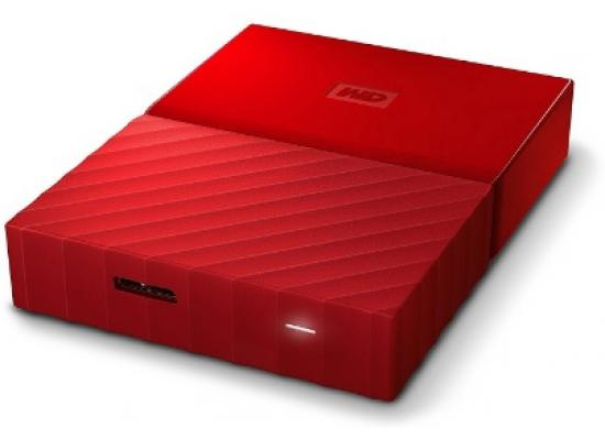WD 4TB My Passport Portable NO Power HDD (RED)