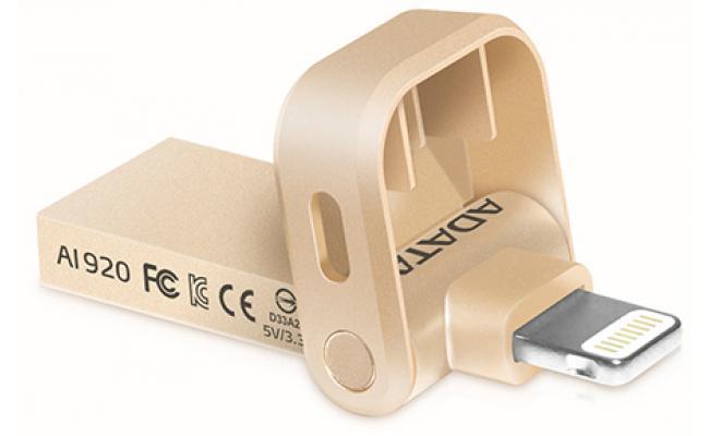 ADATA AI920 Mfi-Certified Lightning 32GB Gold USB3.1