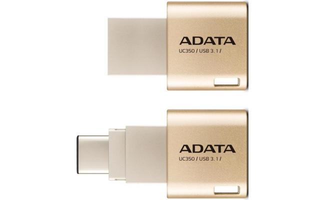 Adata UC350 16GB USB C / USB3.1 Gold Color Flash Drive