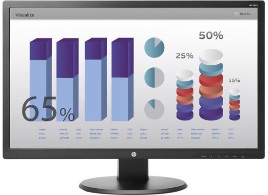 """HP V244H Black 24"""" FHD LED-Backlit Color Monitor"""